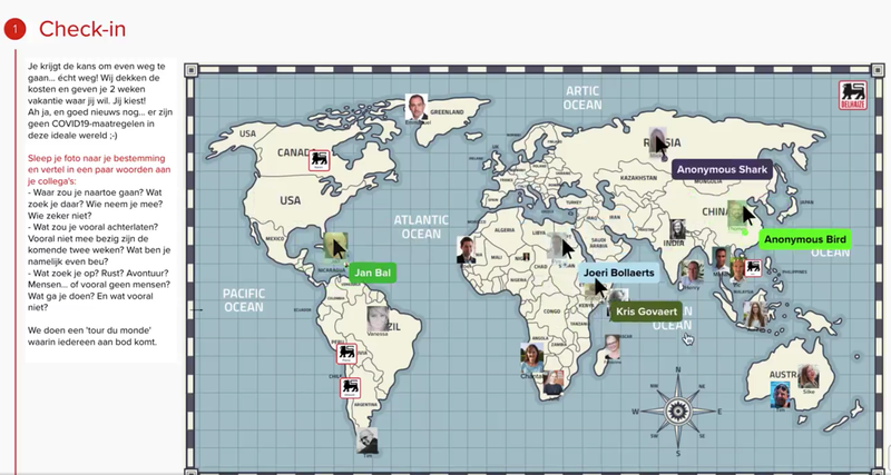 The power of check-in rituals: example of a worldmap